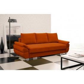 Pomarańczowa, rozkładana sofa z pojemnikiem na pościel Benita penta11
