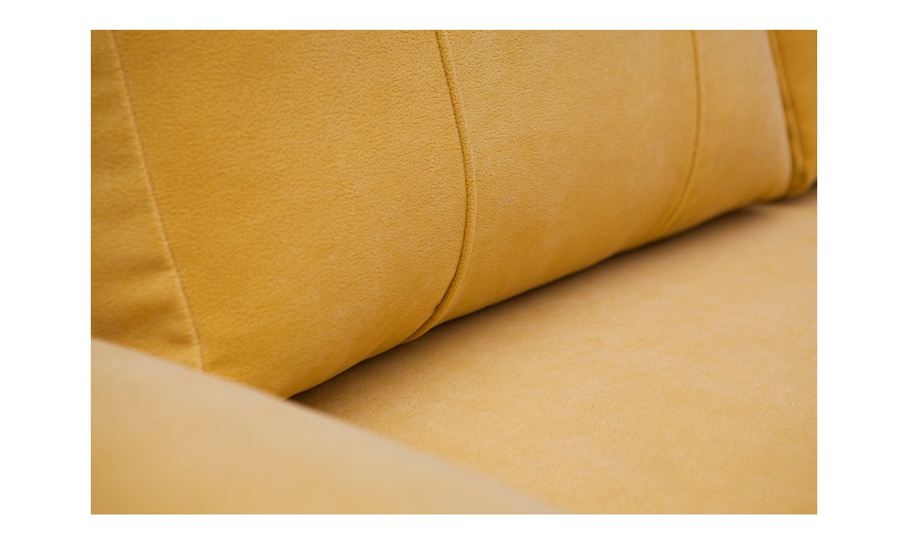 Czarna, rozkładana sofa z pojemnikiem na pościel Benita aston20