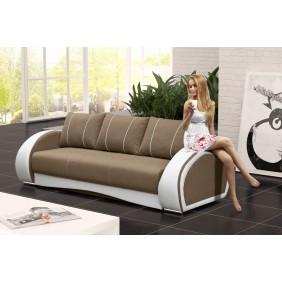 Beżowa, rozkładana sofa z pojemnikiem na pościel Cher