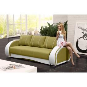 Zielona, rozkładana sofa z pojemnikiem na pościel KS20i35s17