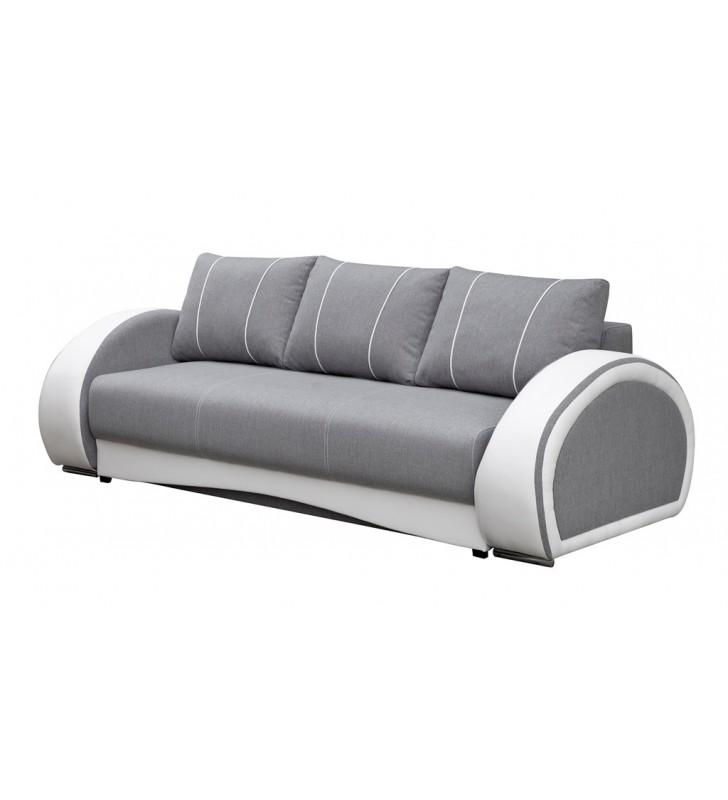 Turkusowa, rozkładana sofa z pojemnikiem na pościel Cher