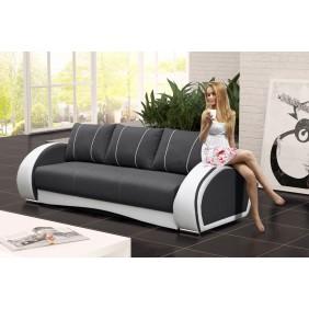 Szara, rozkładana sofa z pojemnikiem na pościel KS20i94s17