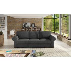 Szara, rozkładana sofa z pojemnikiem na pościel KS21i94