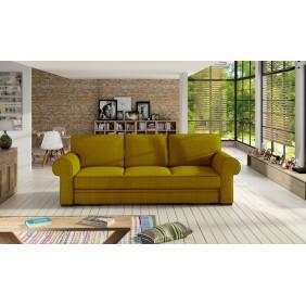 Żółta, rozkładana sofa z pojemnikiem na pościel Bukiet
