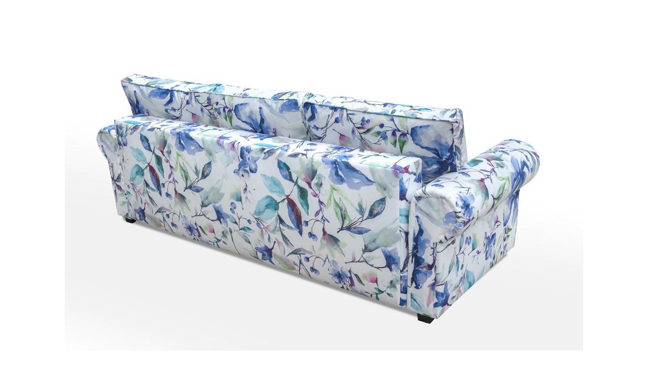 Wielokolorowa, rozkładana sofa z pojemnikiem na pościel Beza
