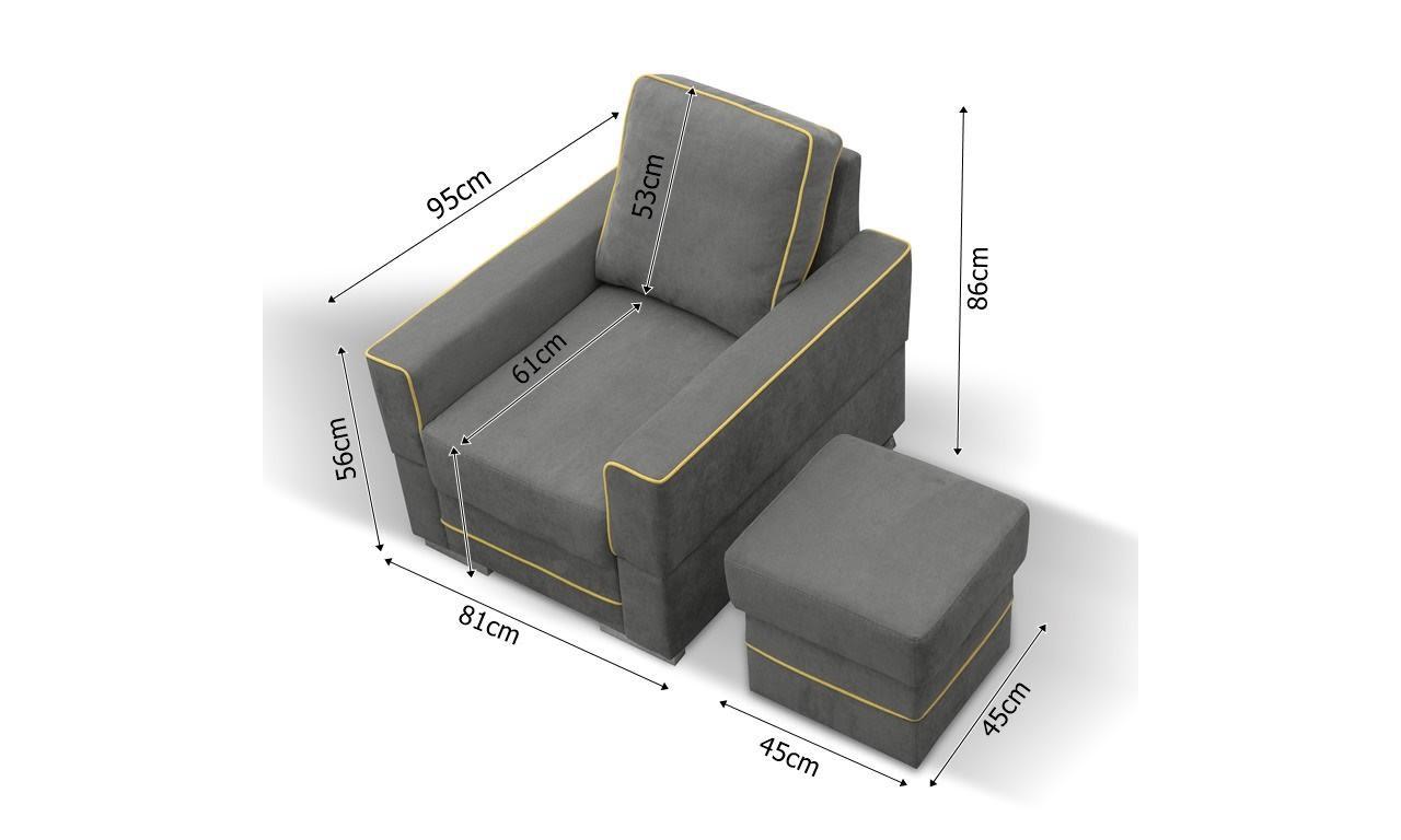 Fotel Samanta dostępny w różnej kolorystyce