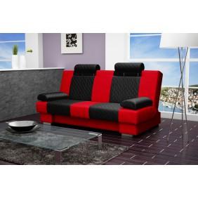 Czarno-czerwona wersalka KW1e100c60