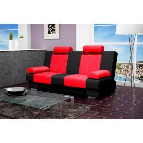 Czerwono-czarna wersalka KW1c60e100