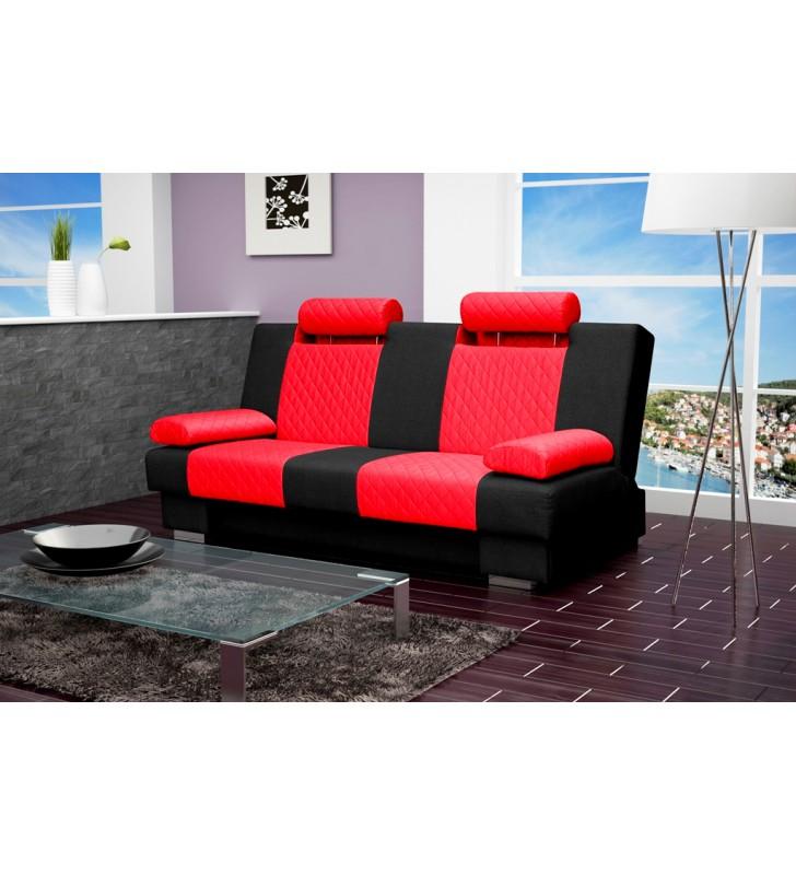 Czerwono Czarna Wersalka Kw1c60e100