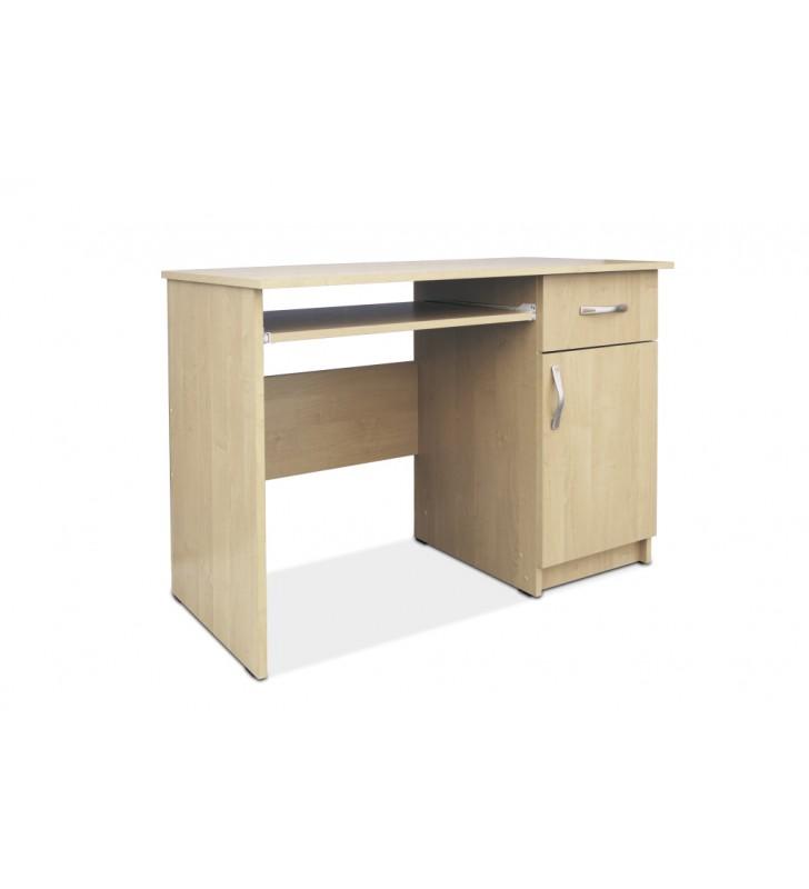 Biurko Bartek z wysuwaną półką na klawiaturę