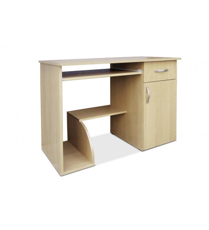 Niebanalne biurko Kacper z wysuwaną półką na klawiaturę