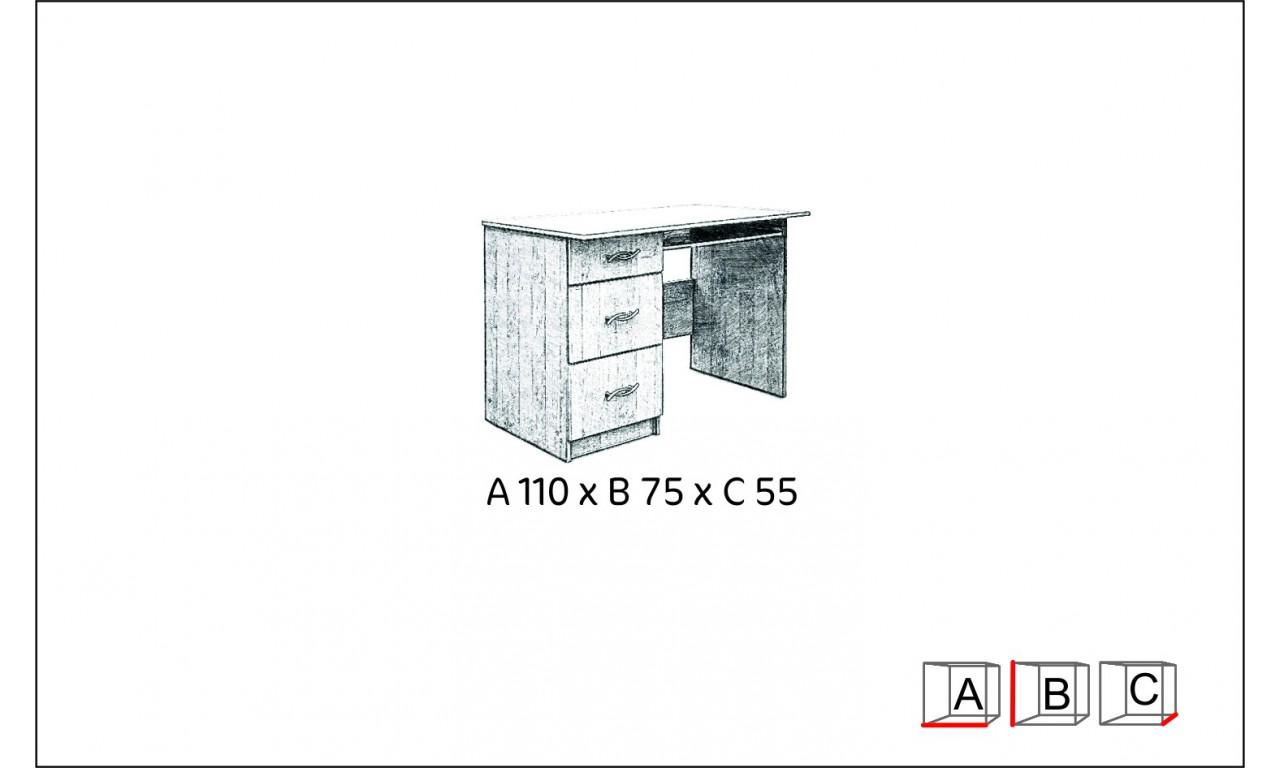 Biurko Gucio z szufladami i wysuwaną półką na klawiaturę