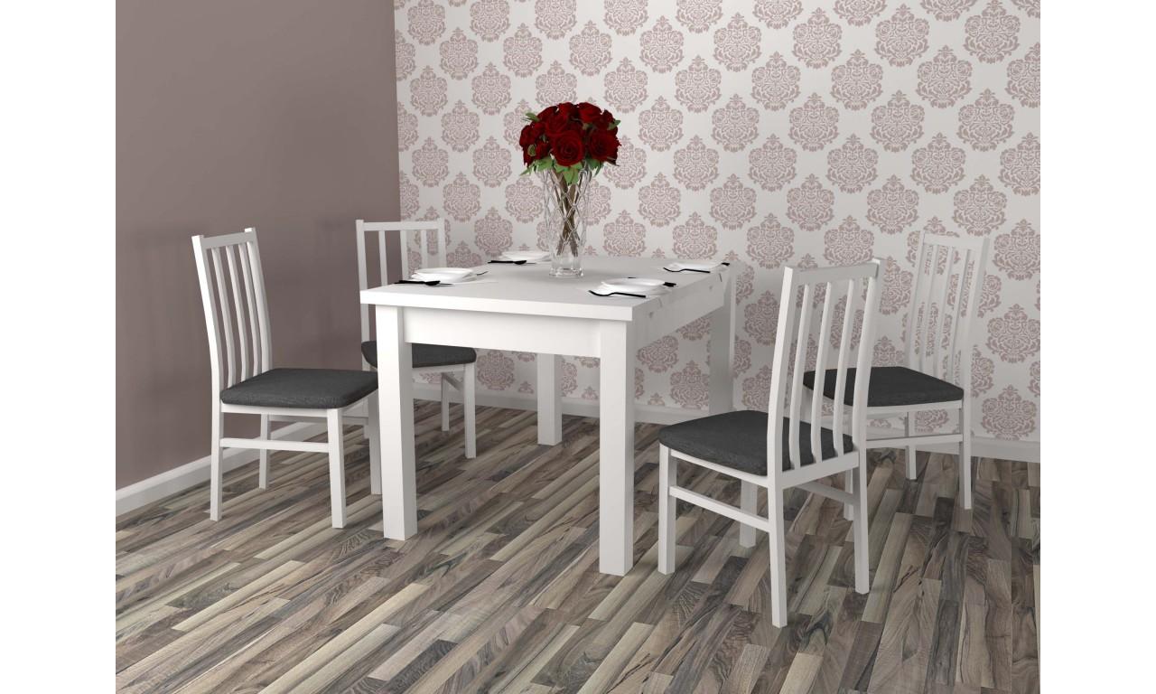Biały zestaw stołowy Boss