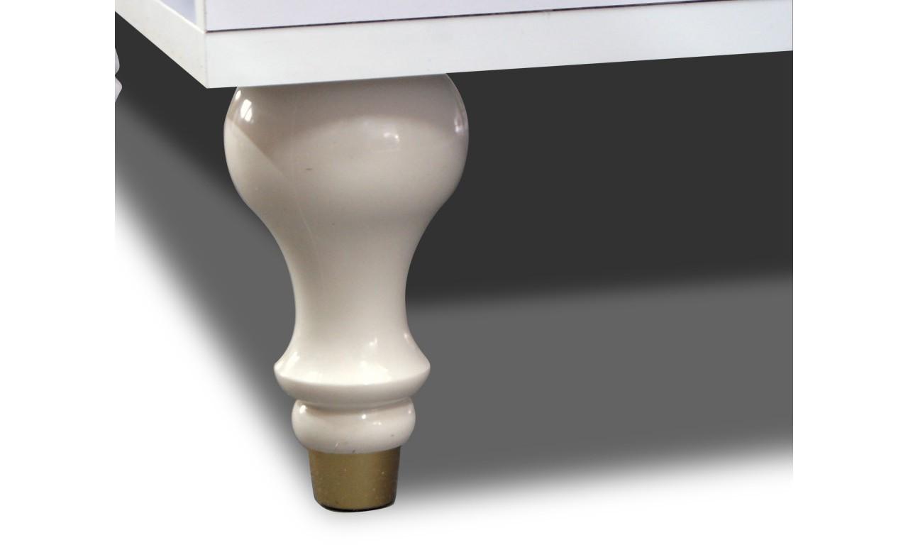 Biała lub białobrązowa komoda w stylu prowansalskim Anastazja