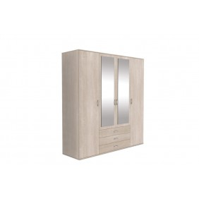 Szeroka szafa (200 cm) z lustrem ASz40