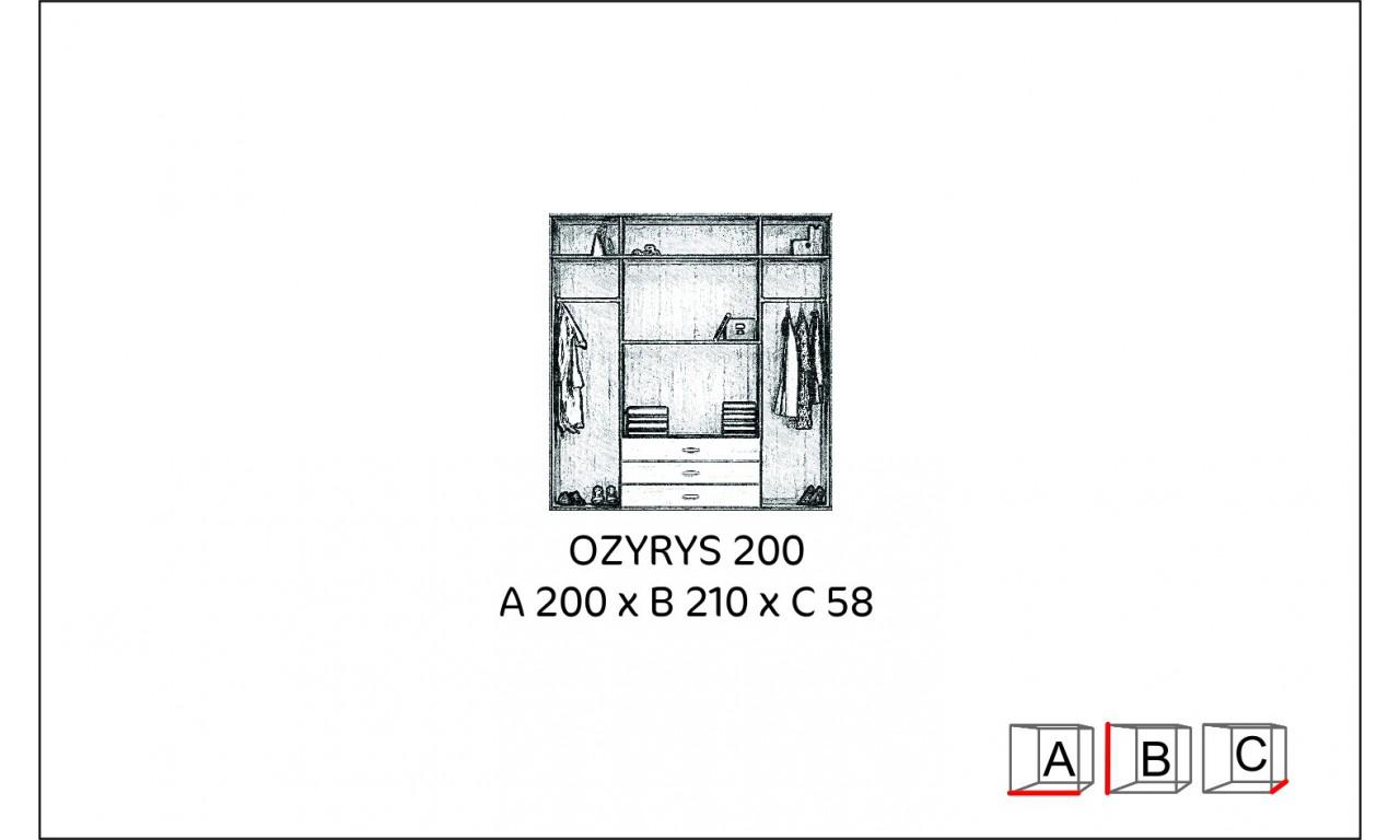 Szeroka szafa (200 cm) z lustrem Ozyrys 200