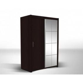 Brązowa szafa z lustrem w stylu klasycznym ASz43