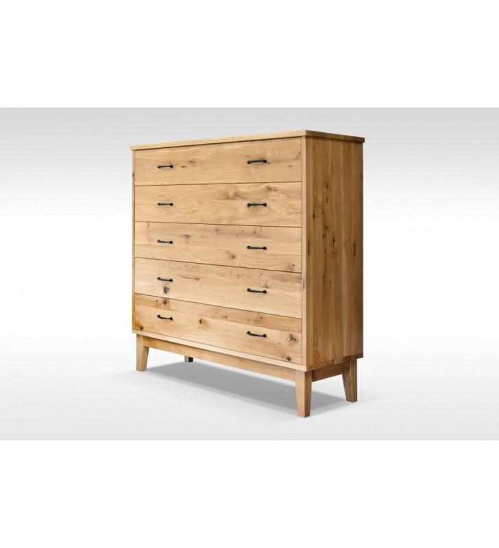 Komoda w stylu rustykalnym wykonana z litego drewna MbtkK1