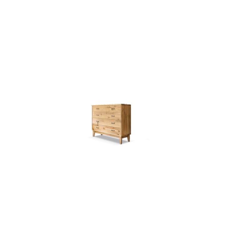 Komoda w stylu rustykalnym wykonana z litego drewna MbtkK2