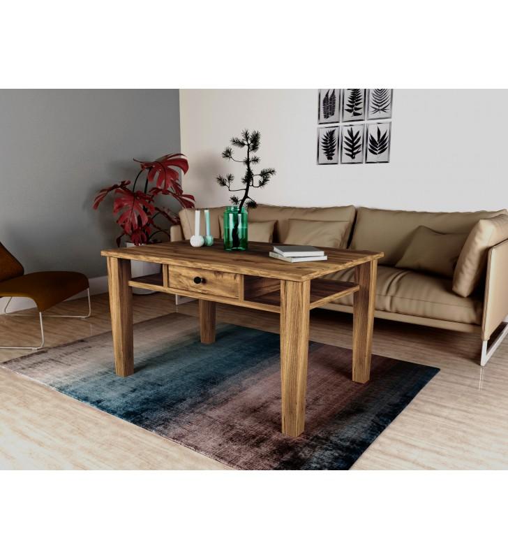 Ława w stylu rustykalnym wykonana z litego drewna MbtkL1