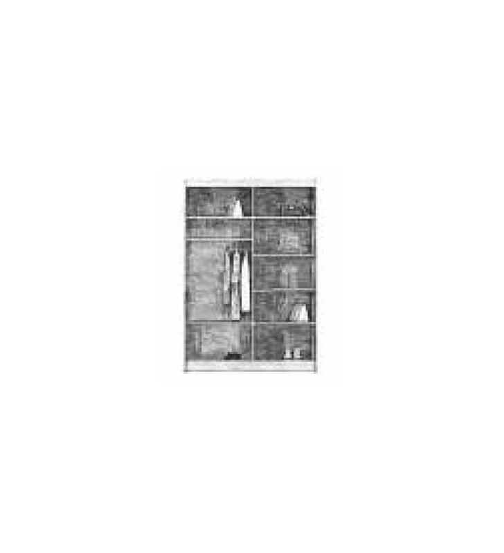 Szafa przesuwna (180 cm) z ozdobnym pasem z brązowego szkła Borneo 180