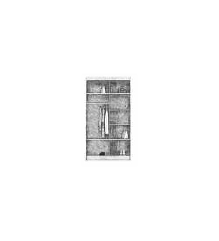 Szafa przesuwna (120 cm) z ozdobnym pasem z brązowego szkła Borneo 120
