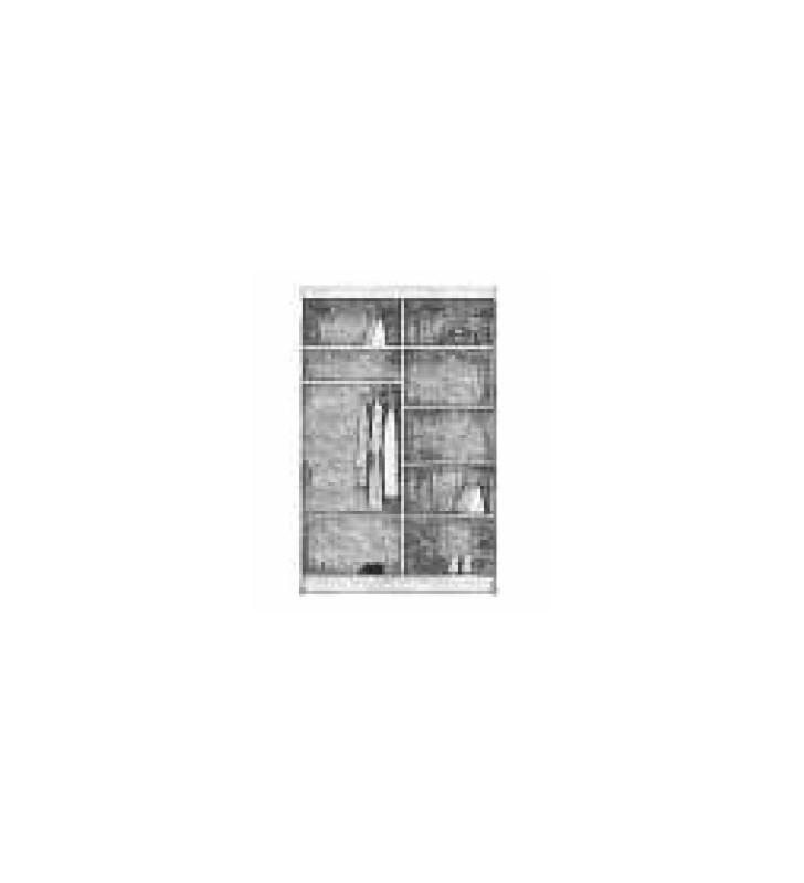 Szafa przesuwna (150 cm) z ozdobnym pasem z brązowego szkła Borneo 150bis