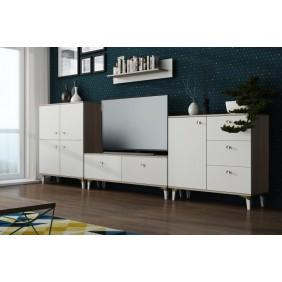 Biała meblościanka w stylu skandynawskim AMb2