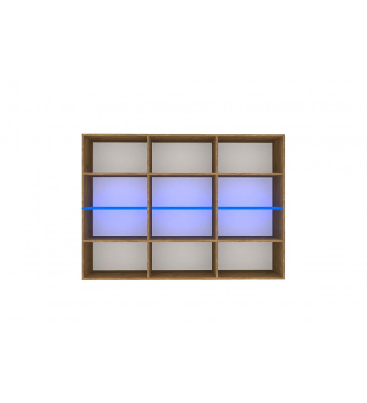 Czarno-brązowy zestaw mebli do salonu Nobi