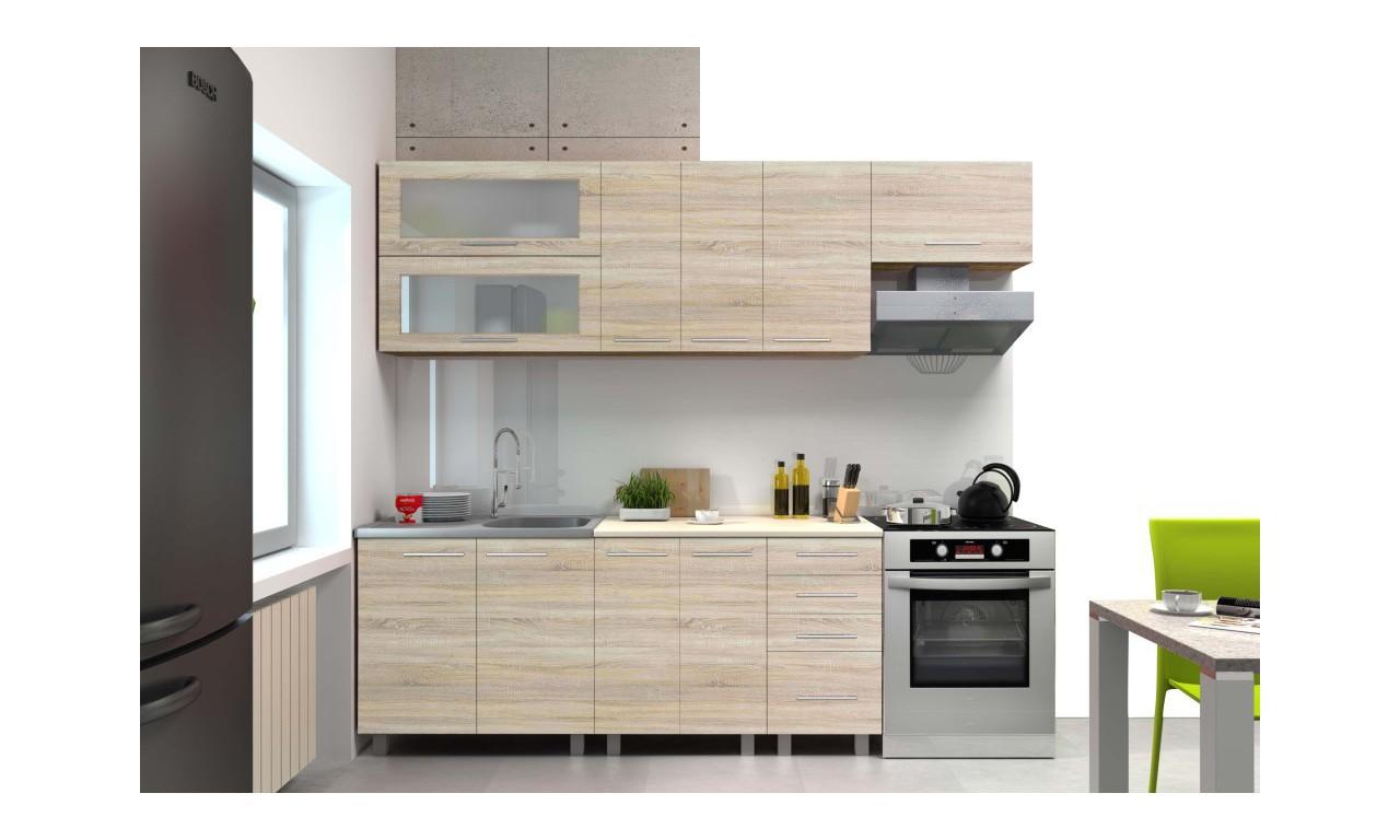 Zestaw mebli kuchennych w stylu nowoczesnym i kilku rozmiarach Lisa