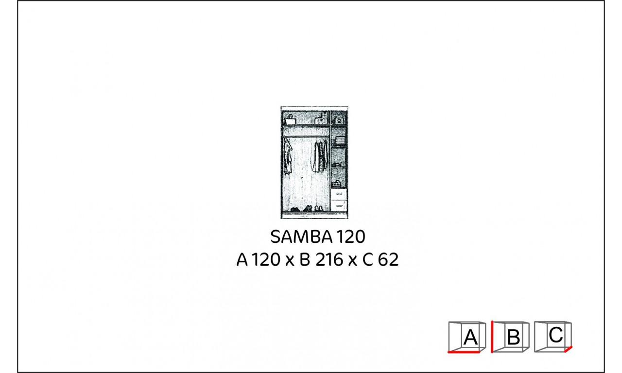 Szafa przesuwna z lustrem Samba 120