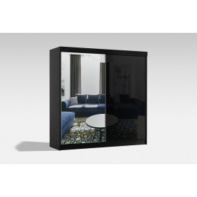 Szeroka szafa (200 cm) przesuwna z lustrem Samba 200