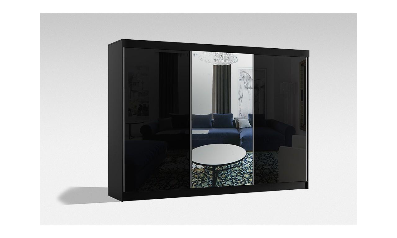Bardzo duża szafa (250 cm) przesuwna z lustrem Samba 250