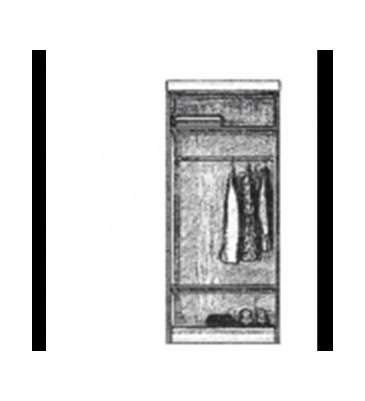Wąska szafa przesuwna proponowana w kilku kombinacjach kolorystycznych Chanti Mini