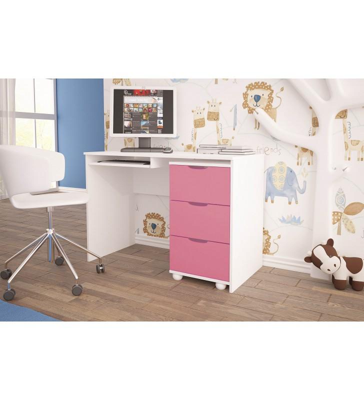 Różowe biurko do pokoju dziecięcego KMB1k