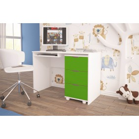 Zielone biurko do pokoju dziecięcego KMB1f