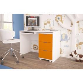 Pomarańczowe biurko do pokoju dziecięcego KMB1s