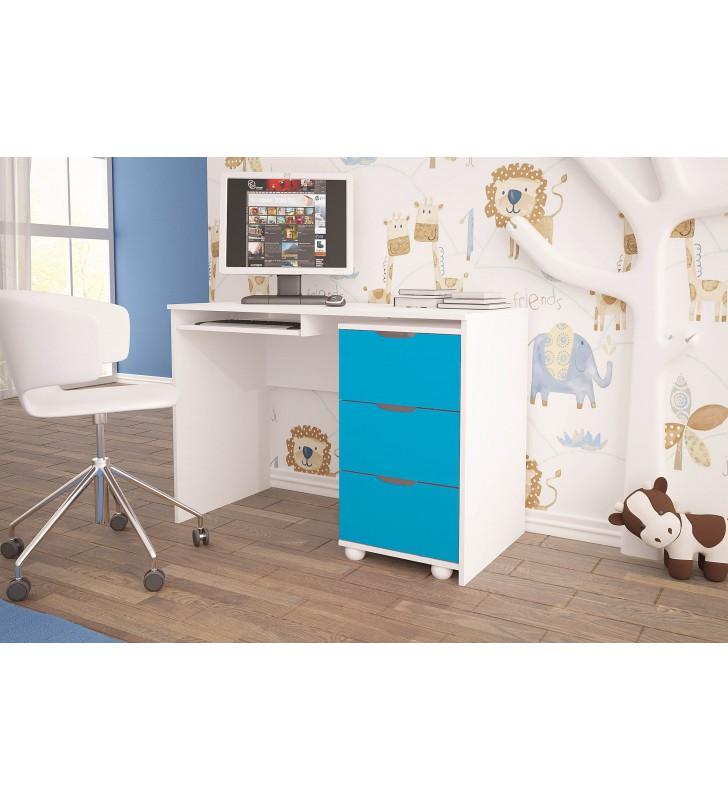 Niebieskie biurko do pokoju dziecięcego KMB1sm