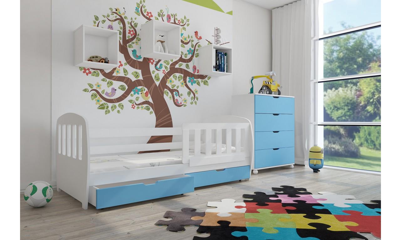 Zestaw niebieskich mebli do pokoju dziecięcego KMZs1sm