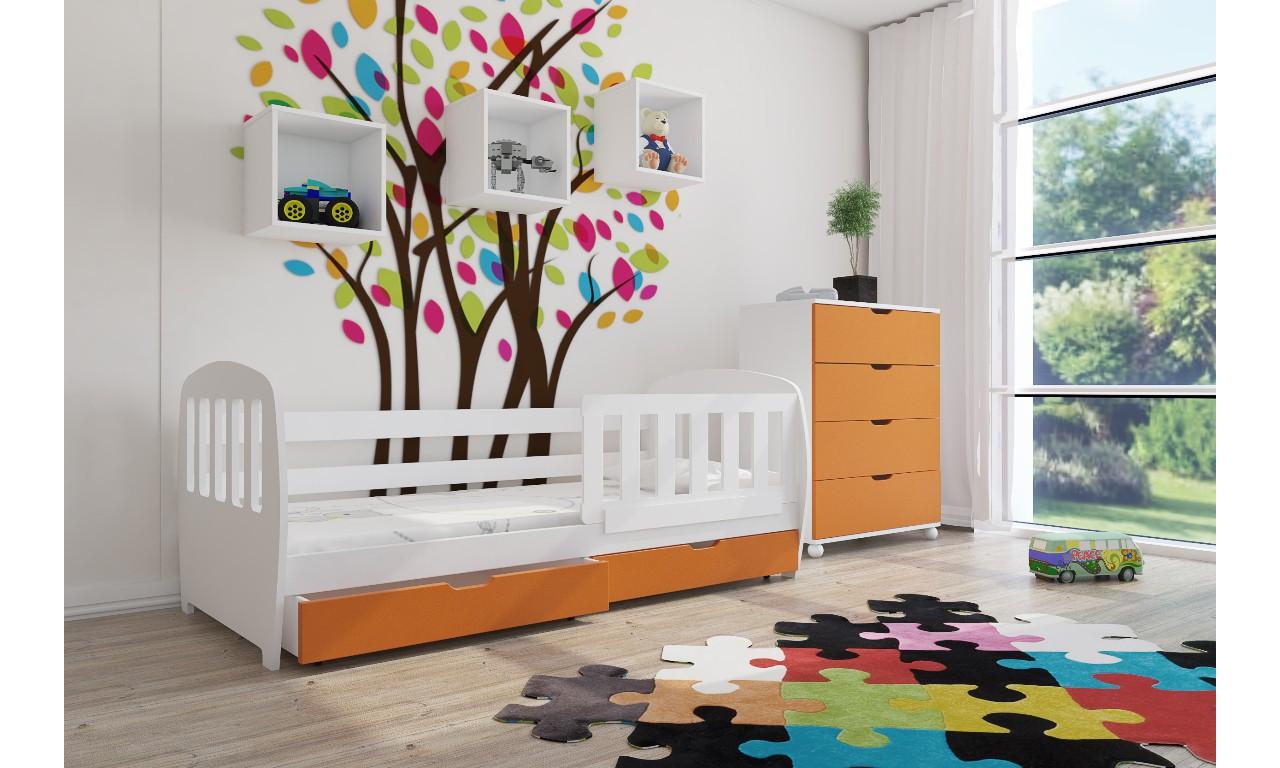 Zestaw pomarańczowych mebli do pokoju dziecięcego KMZs1s