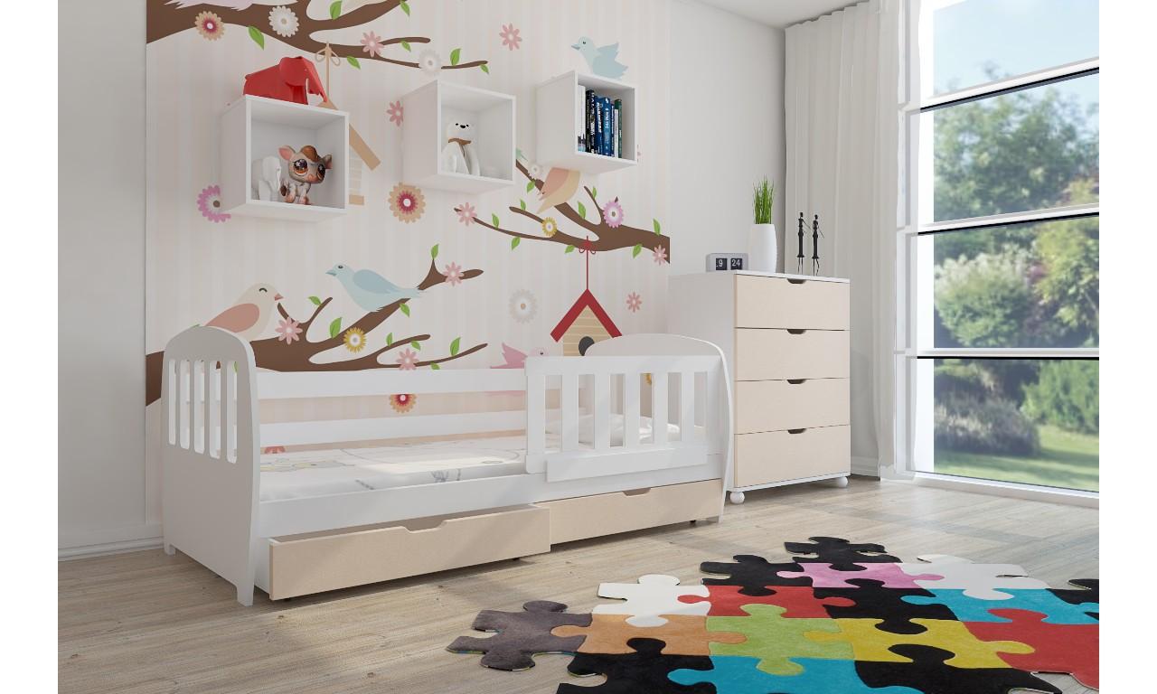 Zestaw beżowych mebli do pokoju dziecięcego KMZs1p