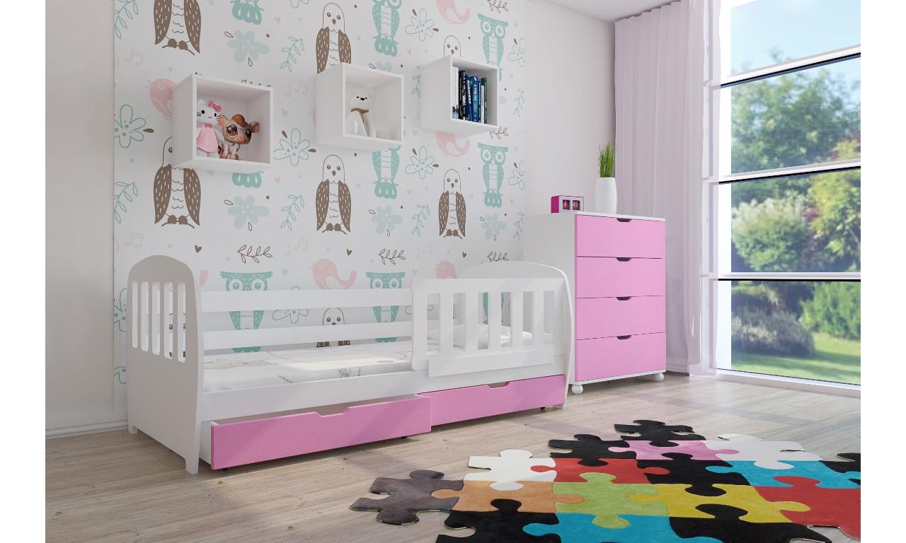 Zestaw różowych mebli do pokoju dziecięcego KMZs1k