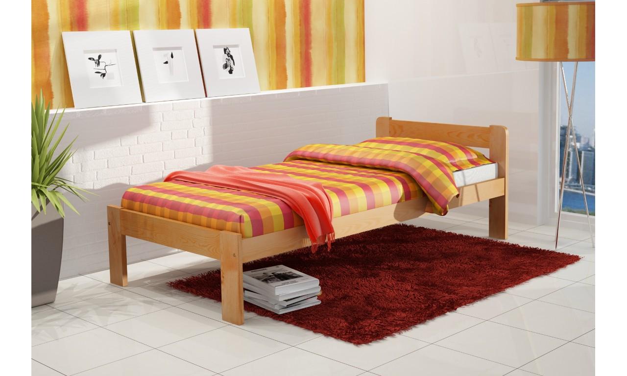 łóżko 90x200 Cm Z Drewna Sosnowego Do Pokoju Młodzieżowego Kmlk8