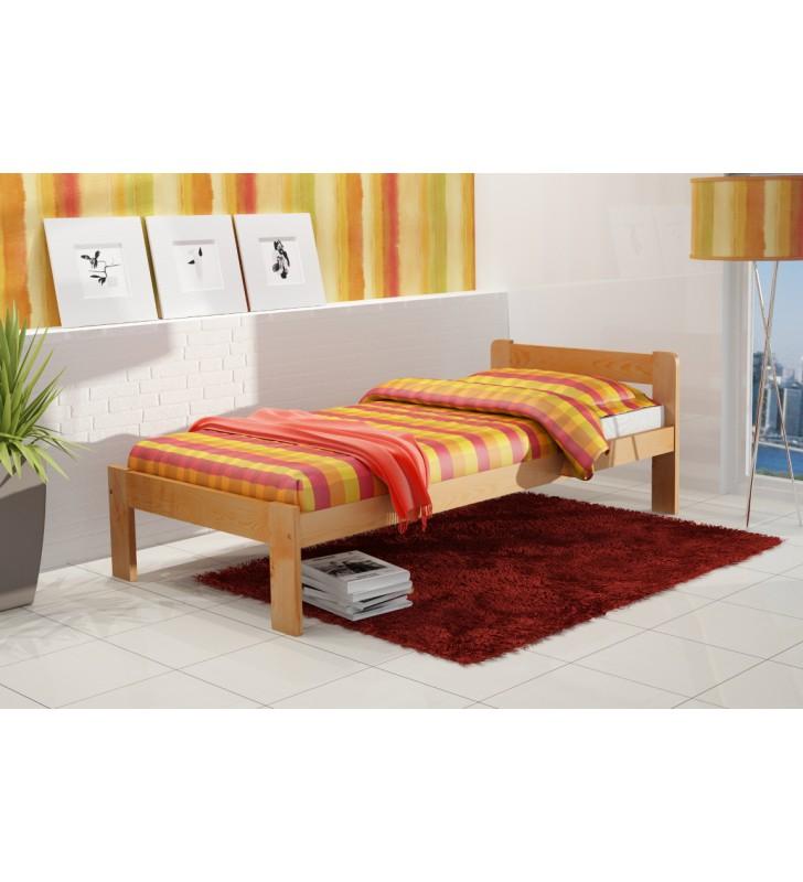 Łóżko (90x200 cm) z drewna sosnowego do pokoju młodzieżowego KMLk8