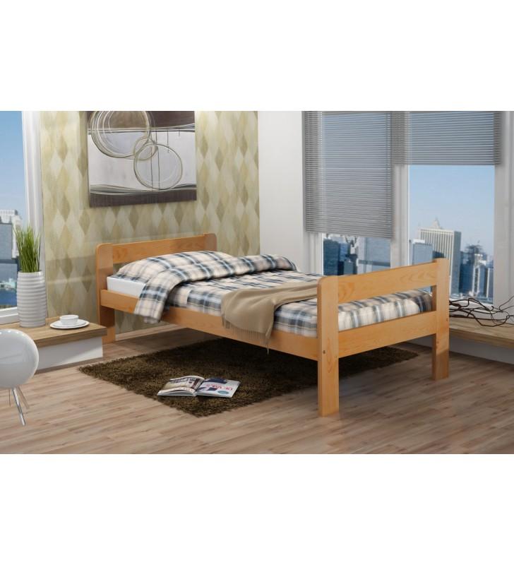 Łóżko (90x200 cm) z drewna sosnowego do pokoju młodzieżowego KMLk9