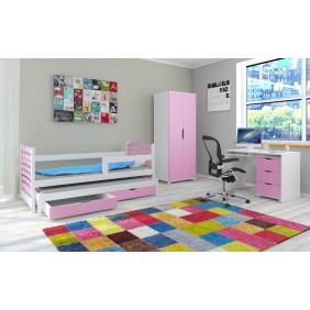 Zestaw różowych mebli do pokoju dziecięcego KMZs2r