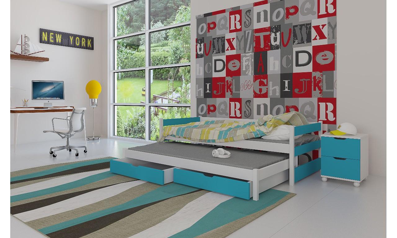 Zestaw niebieskich mebli do pokoju dziecięcego KMZs3n
