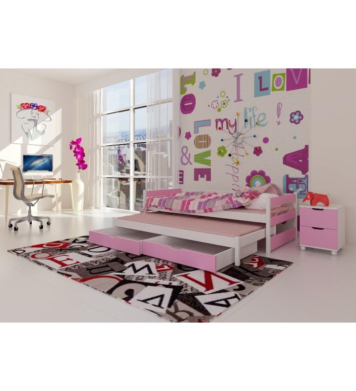 Zestaw różowych mebli do pokoju dziecięcego KMZs3r