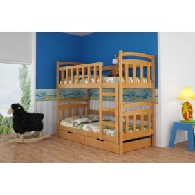 Łóżko piętrowe z szufladami KMLk6sos