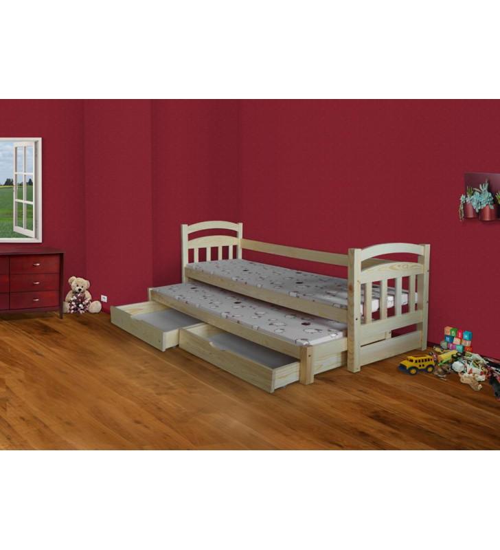Łóżko podwójne z szufladami KMLk17sos